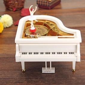Caja Musical Piano De Cola Con Bailarina A Cuerda