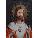 Pinturas Al Óleo - Sagrado Corazón De Jesús 70x50cm