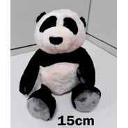 15 Ursos Ursinho Panda 15cm Bicho Pelúcia Pequeno Romântico