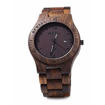 Reloj Para Caballero De Madera Color Oscuro