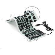 Teclado Externo Chinfai Computadora Portátil, Enrollable Sil