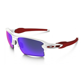 Lentes Oakley Flak 2.0 Color Blanco / Rojo Iridio.