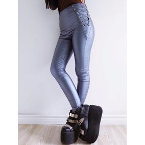 Pantalon Mujer Engomado Cierre Atras Y Acordonado