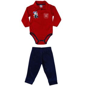 Conjunto Infantil Para Bebê Menino - Vermelho azul Marinho G 031e6b183c586