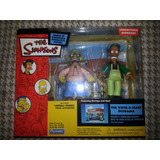Set Simpsons Playmates-abraham Simpsons Y Apu+diorama Oferta