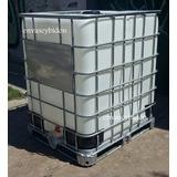 Cisternas Contenedor 1200 Lts, Base Plastica, Chapa O Madera