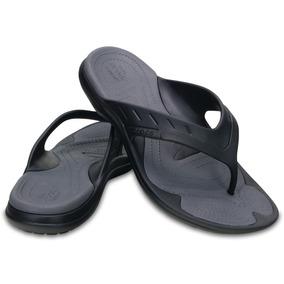 Ojotas Hombre Crocs Modi Sport Flip Black/graphite