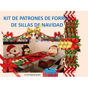 Patron Moldes Imprimibles De Forros De Sillas Navidad Arbol