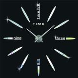 hippih moderno d frameless reloj de pared grande relojes de