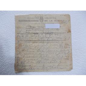 6087-telegrama Invita.depor. Fundac. Eva Peron 5ta.presid