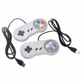 Controle Super Nintendo Snes Usb Joystick, Pc 2 Unidades