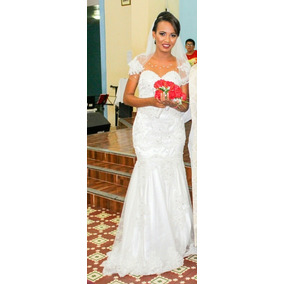 Vestido De Noiva Sereia Costas Nua