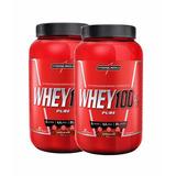 2 Potes De Super Whey 100% Pure Integralmédica 907g Cada