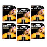 Kit Com 6 Baterias 9v Pilha Duracell Alcalina Combo Original