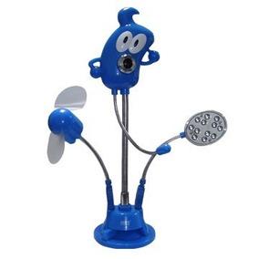 Camara Web Usb Con Microfono / Luz Led / Ventilador