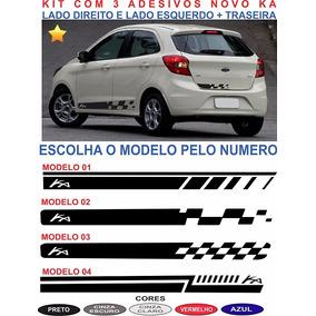 Acessorios Ford Novo Ka G3 Adesivos Laterais E Traseiro Kit3