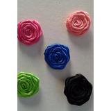 Flores Rococo En Cinta De Raso De 20mm X 10 Unid.
