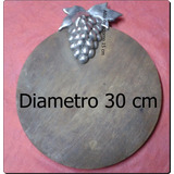 Tabla Madera De Picar Con Ampuloso Adorno De Aluminio