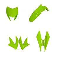 Kit Carenagem Nxr Bross 150 Verde 2013 + Suporte De Placa