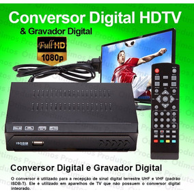 Conversor Digital E Gravador Digital Só R$80,00