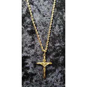 Colar De Ouro Com Crucifixo 5 Gr