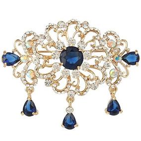 9dfa2bf1d307 Ever Faith Oro-tono De Cristal Austríaco Zircon Art Deco Fl