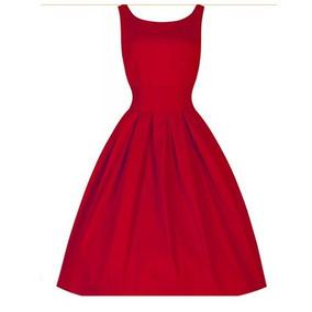 Vestido Pinup , Rockabilly , Retro Color Rojo