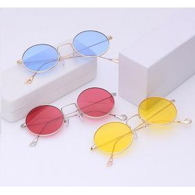 fb2ee26aa058d Oculos Redondo Hippie - Óculos De Sol no Mercado Livre Brasil