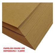 Papel Papelão Couro Nº 100 Pcte 3 Chapas - 100x40cm - Bolsas