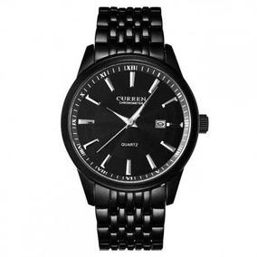 Reloj Curren Hombre Elegante Negro Correa Metálica 8052