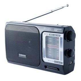Radio Portatil Am Fm A Pilas Y Electrica Manija Winco W1231