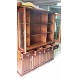 Modular Biblioteca Cristalero Lustrado