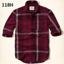 M - Camisa Hollister Vino Ropa De Hombre 100% Original