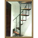 Escaleras Caracol Hierro Y Madera 2,90mt 7900