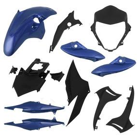 Kit Plástico Carenagem Cb 300r 2012 - 9 Peças Azul Metálico