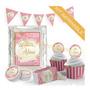Corona Rosa Labrado Ideal Cumpleaños Infantiles