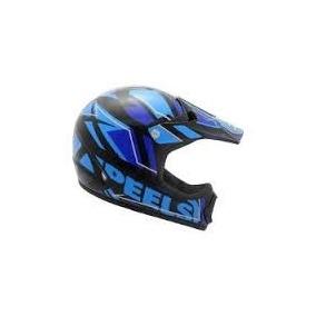 Capacete Motot Cross Peels Px1 Jump Preto/azul Nº 58
