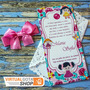 10 Convite Infantil Personalizado Rendado Chá De Bebe Lindo