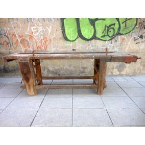 Antiguo Banco De Carpintero Desarmable Doble Morsa 2.60 Mts