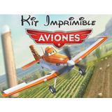Kit Imprimible Aviones Disney Invitaciones + Candy Bar