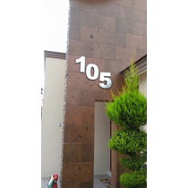 Número Residencial De Aluminio Modelo Bolk 40 Cm