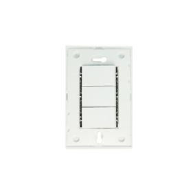 Chasis + 3 Interruptores 2 Vías Color Blanco