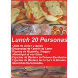 Lunch Para 20 Personas!! Casero Y Económico !! 237 Piezas!!