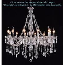 Lustre Cristal Candelabro Maria Tereza 12 L Clear