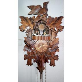 Reloj Cucu Pendulo Antiguo Cucú De Cuerda Alemanes 3 Pesas