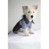 Vestido (mameluco-overol) Jean Camisa Cuadros Para Perro