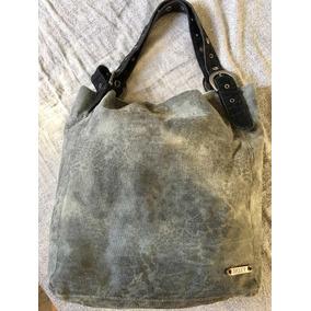 Cartera/ Bolso/ Bag/ Tote Roxy Lona Animal Print Grey O Gold