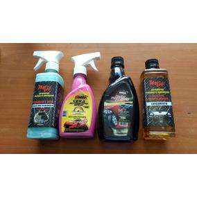 Kit 4 Produtos Limpeza Automotiva Mga