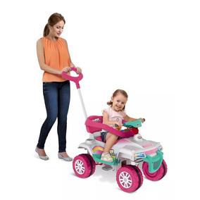 Quadriciclo Mini Carro Infantil Passeio C/ Pedal Rosa Menina