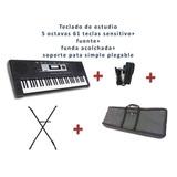 Teclado Sens.5 Oct. + Fuente + Funda + Acolchada + Soporte